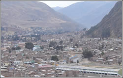 Huancavelica surrounded by mountains